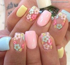 Here is Spring Nail Art Designs Idea for you. Spring Nail Art Designs multi colored x shaped spring nail art design this is a. Summer Acrylic Nails, Spring Nail Art, Cute Acrylic Nails, Acrylic Nail Designs, Spring Nails, Summer Nails, Cute Nails, Nail Art Designs, Nails Design