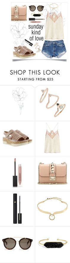 """""""Sunday Kind of Love // Relaxed Style"""" by maggiesinthemoon on Polyvore featuring Blume, Topshop, Homers, Zadig & Voltaire, Levi's, Burberry, Valentino, Lancôme, Alexis Bittar and STELLA McCARTNEY"""