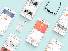 Beauty App  by Rena Xiao #Design Popular #Dribbble #shots