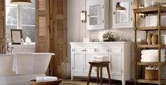 Inspiratie of ideeën: Landelijke badkamer met landelijke badkamermeubels