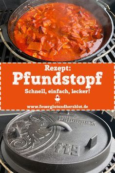 Rezept: Pfundstopf aus dem Dutch Oven cooking with dutch oven Dutch Oven Potatoes, Dutch Oven Chicken, Dutch Oven Bread, Dutch Oven Recipes, Pastry Recipes, Cooking Recipes, Healthy Potato Recipes, Healthy Meals To Cook, Easy Meals