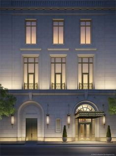 Gallery of Interior Renders of Robert AM Stern's 520 Park Avenue, NYC's Most Expensive Apartment Building – 7 New Classical Architecture, Villa Architecture, Architecture Classique, Classic Architecture, Facade Architecture, Ancient Architecture, Sustainable Architecture, Building Elevation, Building Facade