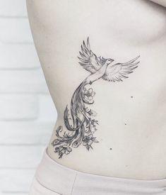 Mommy Tattoos, Cute Tiny Tattoos, Mini Tattoos, Future Tattoos, Beautiful Tattoos, Body Art Tattoos, Phoenix Tattoo Feminine, Small Phoenix Tattoos, Phoenix Tattoo Design