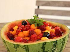 Salade de Fruits Frais de Saison en Pastèque Photo : http://la-cuisine-des-jours.over-blog.com © 2013