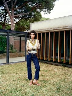 Steffy Argelich channels the 1970s in a Mango's fall 2015 Premium collection