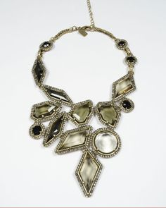 BADGLEY MISCHKA  Glass Stone Art Deco Necklace