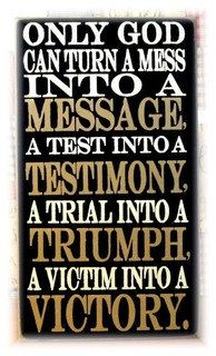 Only God can turn a mess into a message wood by pattisprimitives, $34.00