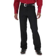 Wrangler Men's Wrancher Dress Jean, Size: 36 x 32, Black
