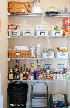 Organize your pantry with a few simple steps. Tips and ideas to keep the clutter and messes away!