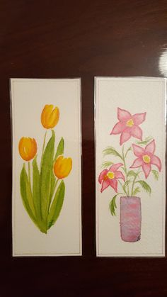 original watercolor bookmarks by Luann Ripp