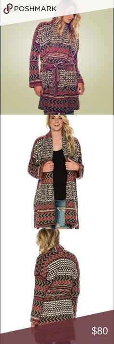 Free People Iona Pattern Wrap Cardigan This is a re-posh, it just ended up being too big on me. This is a gorgeous piece, I so wish it fit. It runs quite large so keep this in mind. Trades welcome!! Free People Sweaters Cardigans