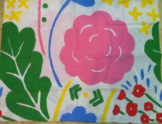 Vintage Marimekko Dan River Large Scale Floral Flowers Pillowcases Set Sheet | eBay