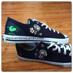 Plants vs Zombies Converse Shoes by denimtrend on Etsy, $65.00