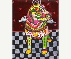 Lab Art Labrador Retriever Angel art dog Art Print Poster by Heather Galler Painting (HG544)