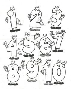 Kinder lernen spielend - ABC und 123 - Zahlen - Ausmalen und Lernen - Freebie *** Fun Kids Learning - Free Printable Learning and drawing the Numbers Preschool Colors, Preschool Learning, Kindergarten Math, Animal Pictures For Kids, Animals For Kids, Infant Activities, Preschool Activities, Early Years Maths, Hand Lettering Alphabet
