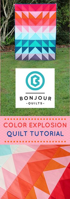 A free quilt pattern from Bonjour Quilts - make this bright, beautiful and easy-to-sew baby quilt
