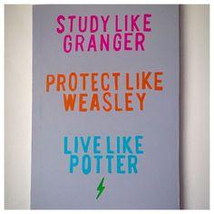 DIY canvas Harry Potter quote