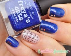 #picture polish #blue #freyascat #stamping #bundlemonster #nail #nails #nailart #lapaillettefrondeuse