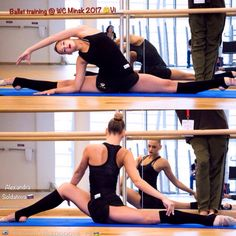 Alexandra SOLDATOVA (Russia) ~ Ballet training on World Challenge Cup Minsk 2017 Photo by Vk.com/vikapopova_rg (Russia)