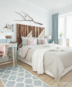 Фото Загородный уют в городской квартире (спальня) - интерьер, квартира, дом, спальня, 10 - 20 м2, кантри