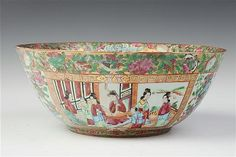 "Bowl 11.25"" wide, Gold in Hair,  at Auction / Sloans and Kenyon"