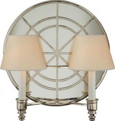 Global Double Arm Sconce in Polished Nickel by Michael S. Smith for Visual Comfort