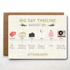 Custom Wedding Timeline Wedding Invitation Fully by TheBritishRule
