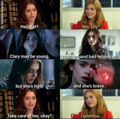 Clary Fray // Katherine McNamara // Lily collins // The Mortal Instruments // TMI>>> Awww :') I'll miss Lily