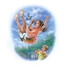 In the leafy treetops Marcel, Vintage Images, Vintage Art, Childhood Memories 90s, Illustration Photo, Chica Anime Manga, Kid Poses, Ad Art, Angel Art