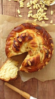 almond vanilla twisted bread wreath - perfect with coffee