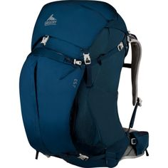 The lightweight Gregory Women's J 53 Backpack carries everything you need for a weekend backpacking trip, a day at the climbing crags, or a longer ultralight backpacking journey. You can comfortably carry up to 40 pounds of gear in this backpack, which weighs around three pounds. Gregory made the Jade with high-quality ripstop nylon for an ideal combination of strength and low weight and outfitted it with the lightweight, supportive CrossFlo suspension system.   Gregory's  CrossFlo ...