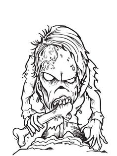 zombie ninja turtle coloring pages - photo#42
