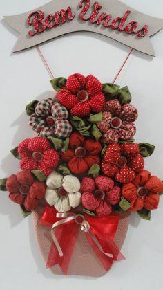 colgante: Bienvenidos con flores
