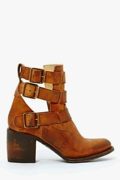 Free bird Rolling Buckle Boot of Boho chics, pure hard leather