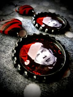 Santa Dracula earrings by LttleShopOfHorrors on Etsy, $6.75