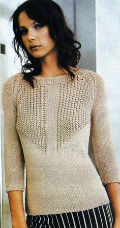 Пуловер спицами... Изысканно и просто
