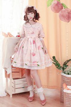 Harajuku Fashion, Kawaii Fashion, Lolita Fashion, Girl Fashion, Fashion Outfits, Quirky Fashion, Asian Fashion, Little Girl Dresses, Flower Girl Dresses