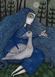 "Saatchi Art Artist Judith Clay; Drawing, ""The White Duck"" #art"
