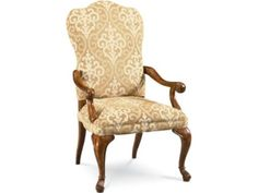 Upholstered Dining Chairs with Arms Traditional Dining Chairs, Upholstered Dining Chairs, Chair, Wood Legs, Furniture, Upholstered Arm Chair, Accent Chairs, Armchair Design, Upholstery