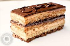 Opera Cake is a classic French pastry that combines a delicate almond sponge cake with the silkiest coffee buttercream and ganache. Zumbo's Just Desserts, Small Desserts, Mini Desserts, French Sweets, French Desserts, French Pastries, Pastry Recipes, Cake Recipes, Dessert Recipes