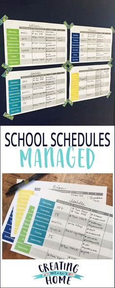 Managing Kid's Busy Schedules {FREE PRINTABLE} - creatingmaryshome.com