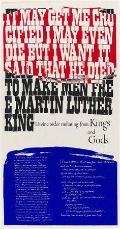 Corita Kent (Sister Mary Corita), King's Dream, 1969, Harvard Art Museums/Fogg Museum.