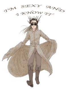 sassy Thranduil #thehobbit  #tolkien #Thranduil #hobbit