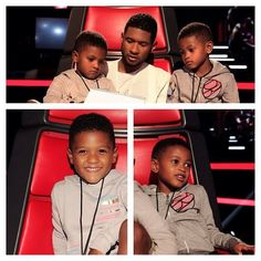 Usher and his babies!! soo cute