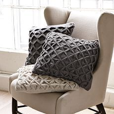 Trellis Knit Pillow Cover | west elm