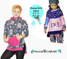 Vokuhila Pullover * Kombi - Ebook * Mama & Tochter bei Makerist