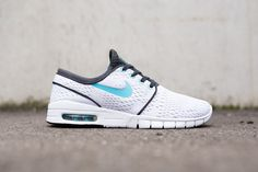 "Nike SB Stefan Janoski Max ""Clearwater"" Nike Skateboarding expanded its Janoski lineup at the start of 2014 with the introduction of the Max edition that combined Air Max and Free cushioning …"