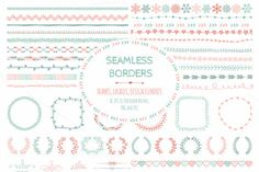 Check out Doodle Seamless Borders, Elements by Olka on Creative Market