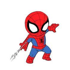 3 Ways to Draw Spiderman - Improveyourdrawings.com Spiderman Bebe, Image Spiderman, Amazing Spiderman, Spiderman Anime, Cartoon Pics, Cartoon Styles, Cartoon Drawings, Cute Cartoon, Spiderman Drawing