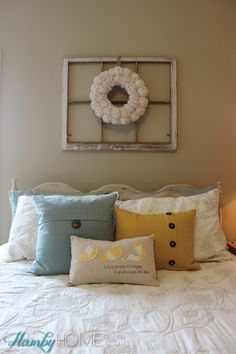 navy and yellow guest room tour | home decorating inspiration, Innenarchitektur ideen